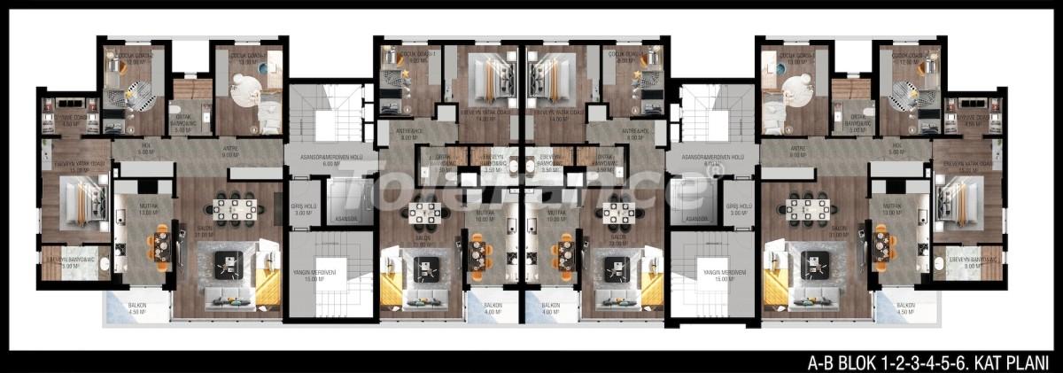 Modern apartments in Unсalı, Konyaaltı from the developer - 42504   Tolerance Homes