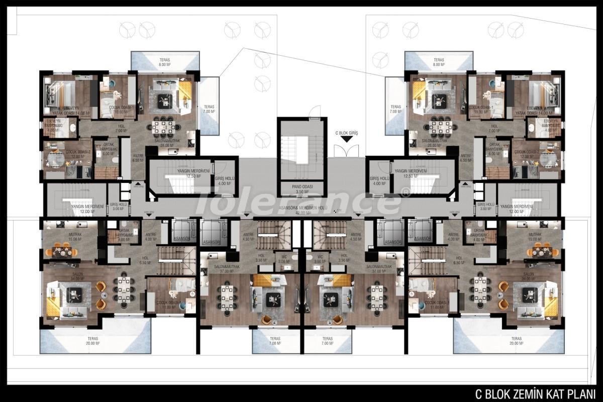 Modern apartments in Unсalı, Konyaaltı from the developer - 42503   Tolerance Homes