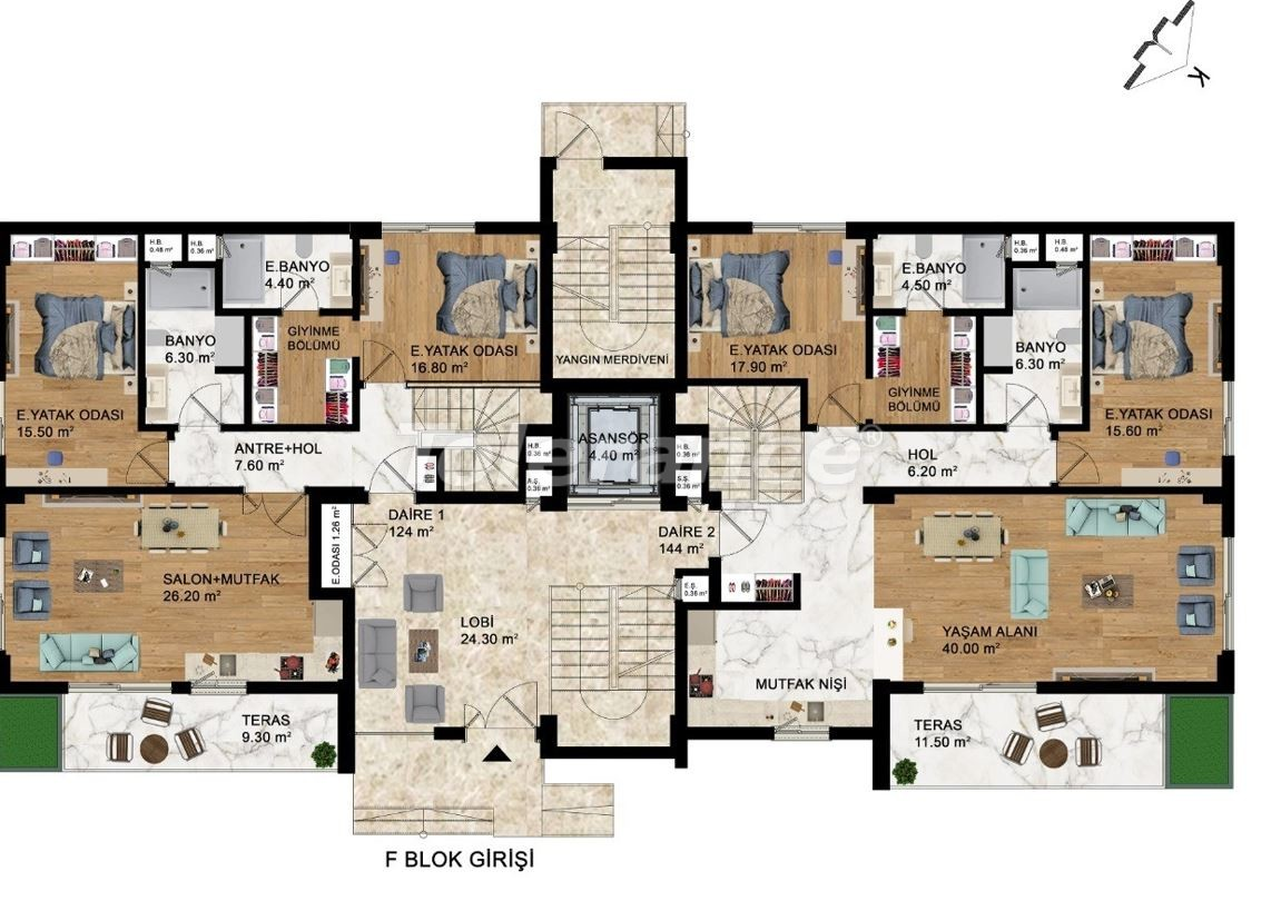 Luxury apartments with hotel infrastructure in Kepez, Antalya by installments from the developer - 42905   Tolerance Homes