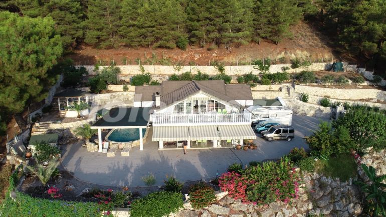 Detached villa in Adrasan, Kemer with furniture and appliances and a view of the bay - 43184 | Tolerance Homes