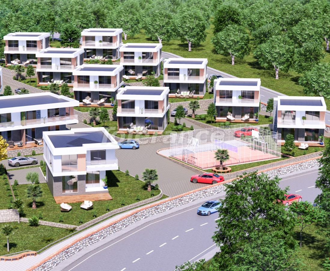 Villas in Akbük, Didim in a complex with installments from the developer and sea views - 43553   Tolerance Homes