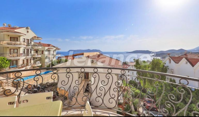 Resale 3-bedroom apartment in Kaş, profitable for investment, with the sea and mountain views - 43973   Tolerance Homes