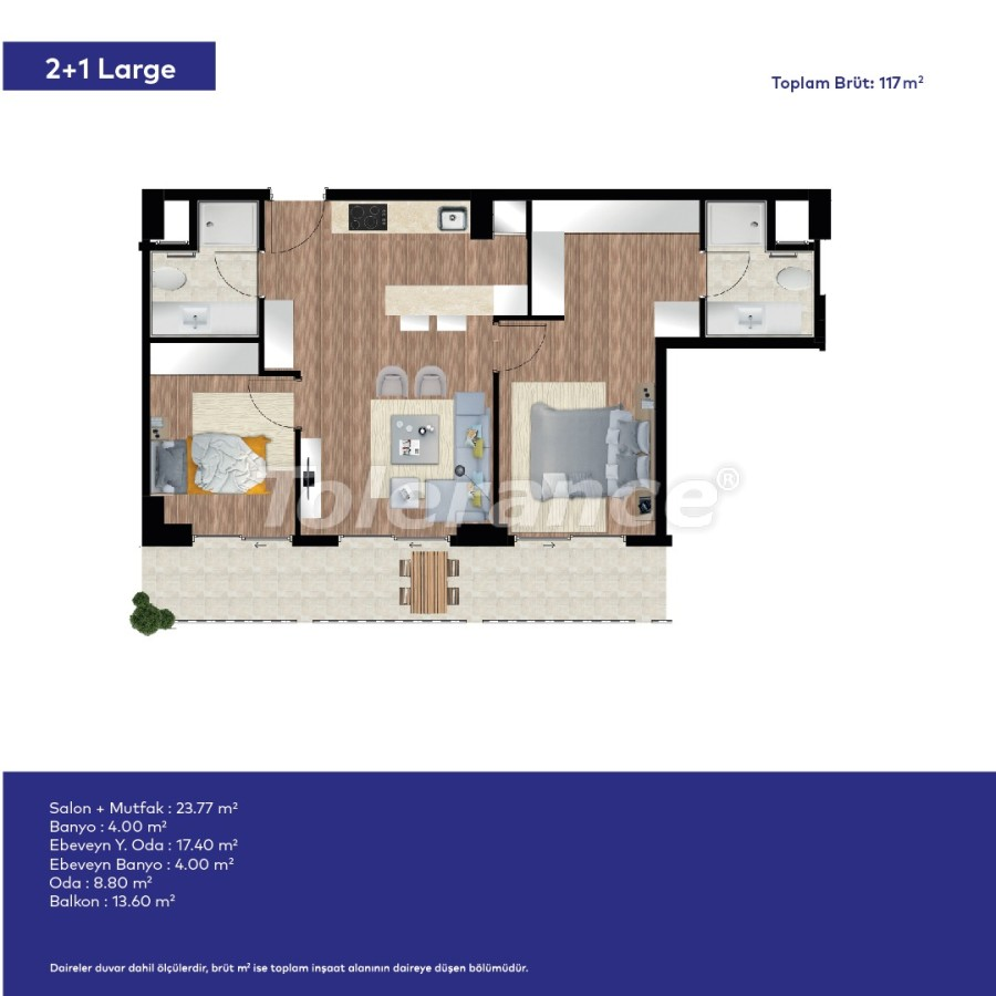 Affordable modern apartments in Izmir in a complex with hotel-type facilities - 44008   Tolerance Homes