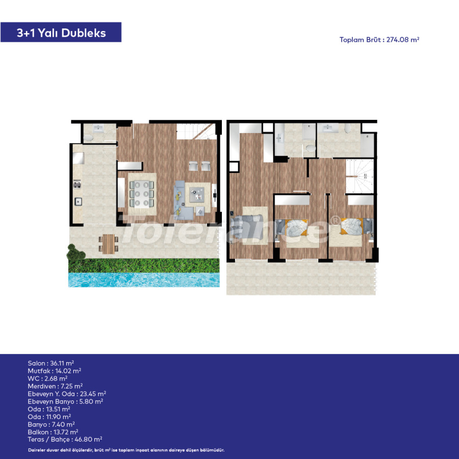 Affordable modern apartments in Izmir in a complex with hotel-type facilities - 44015   Tolerance Homes