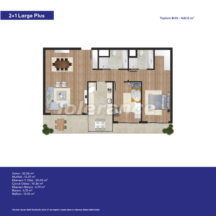 Affordable modern apartments in Izmir in a complex with hotel-type facilities - 44009   Tolerance Homes