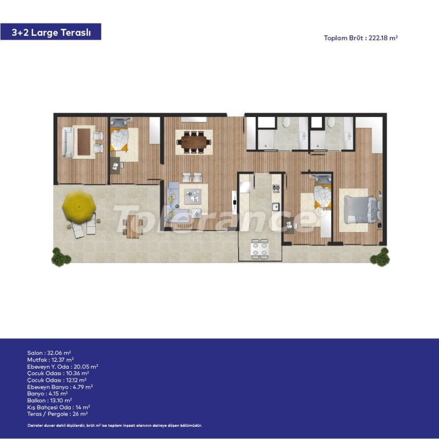 Affordable modern apartments in Izmir in a complex with hotel-type facilities - 44016   Tolerance Homes