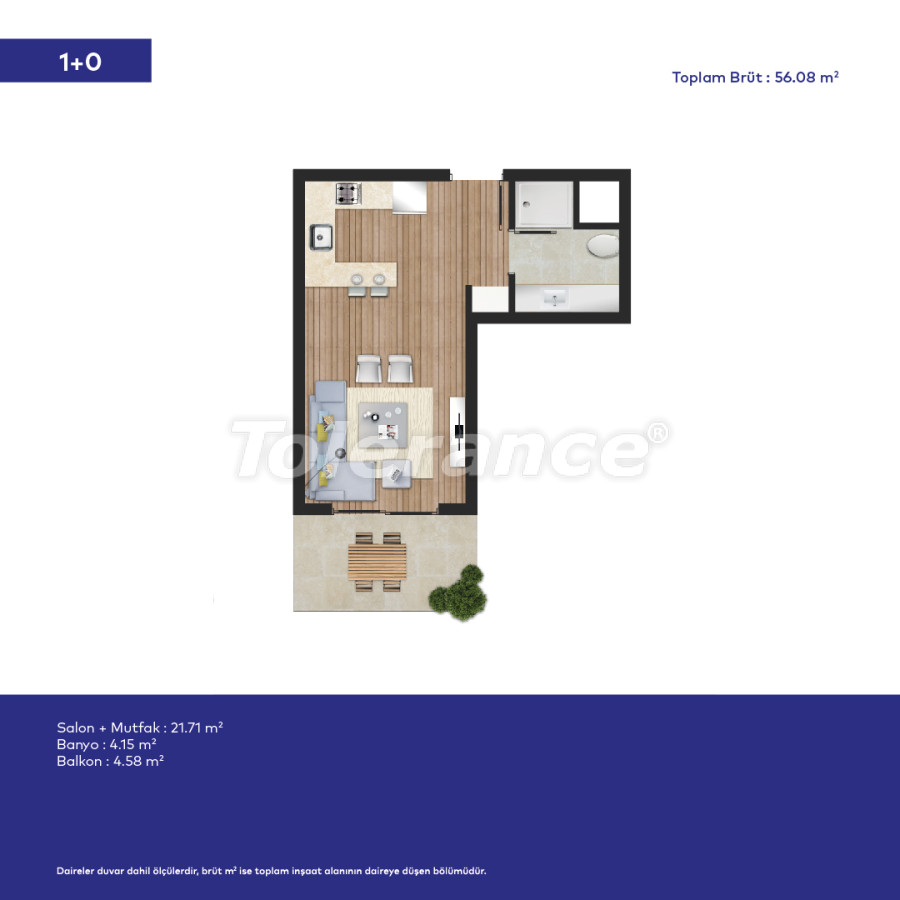Affordable modern apartments in Izmir in a complex with hotel-type facilities - 44006   Tolerance Homes