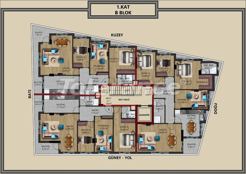 Modern apartments in Muratpaşa, Antalya with interest-free installments from the developer - 44708   Tolerance Homes