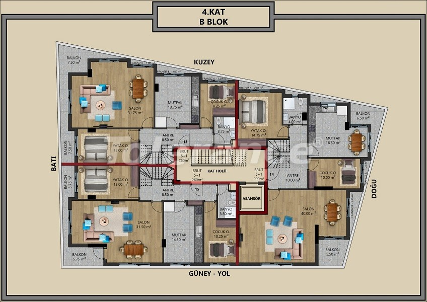 Modern apartments in Muratpaşa, Antalya with interest-free installments from the developer - 44715   Tolerance Homes
