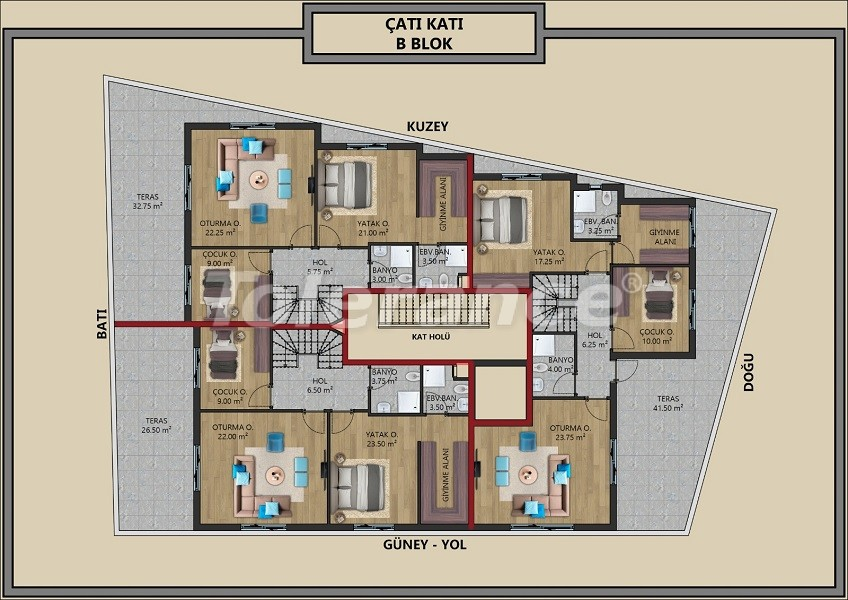 Modern apartments in Muratpaşa, Antalya with interest-free installments from the developer - 44714   Tolerance Homes