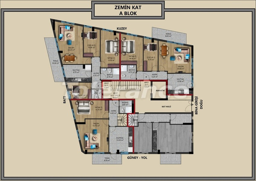 Modern apartments in Muratpaşa, Antalya with interest-free installments from the developer - 44713   Tolerance Homes