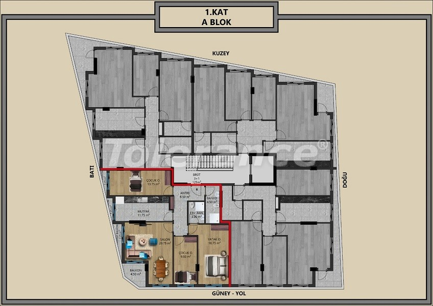 Modern apartments in Muratpaşa, Antalya with interest-free installments from the developer - 44710   Tolerance Homes