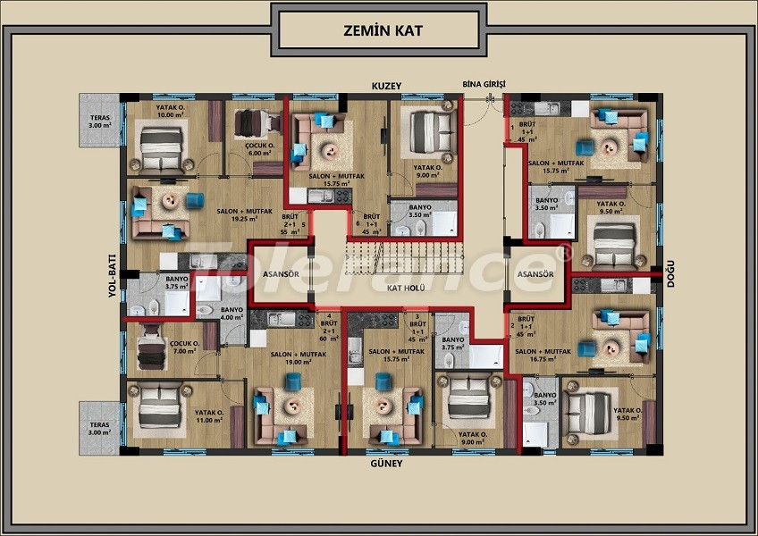 New apartments in Muratpaşa, Antalya with installments from a reliable developer - 44723   Tolerance Homes