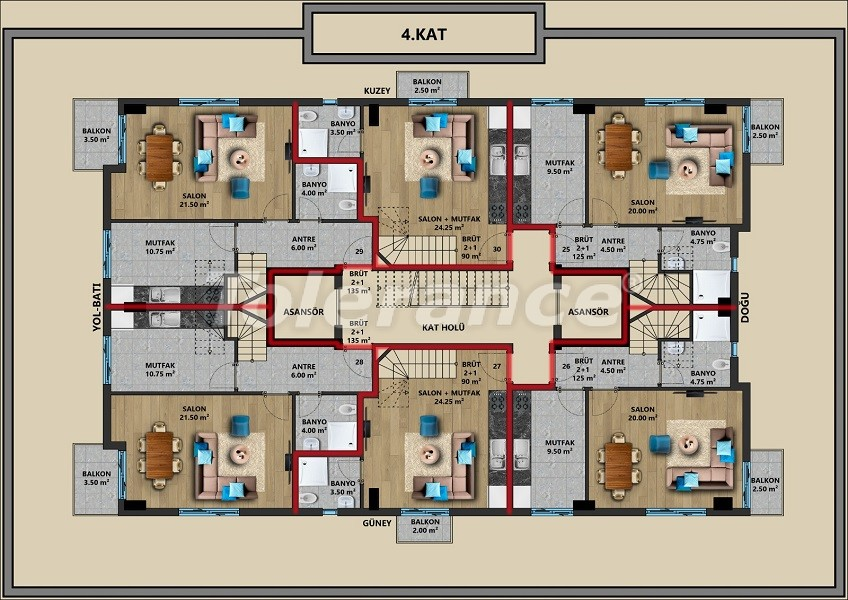 New apartments in Muratpaşa, Antalya with installments from a reliable developer - 44721   Tolerance Homes
