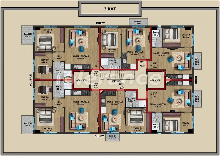 New apartments in Muratpaşa, Antalya with installments from a reliable developer - 44719   Tolerance Homes