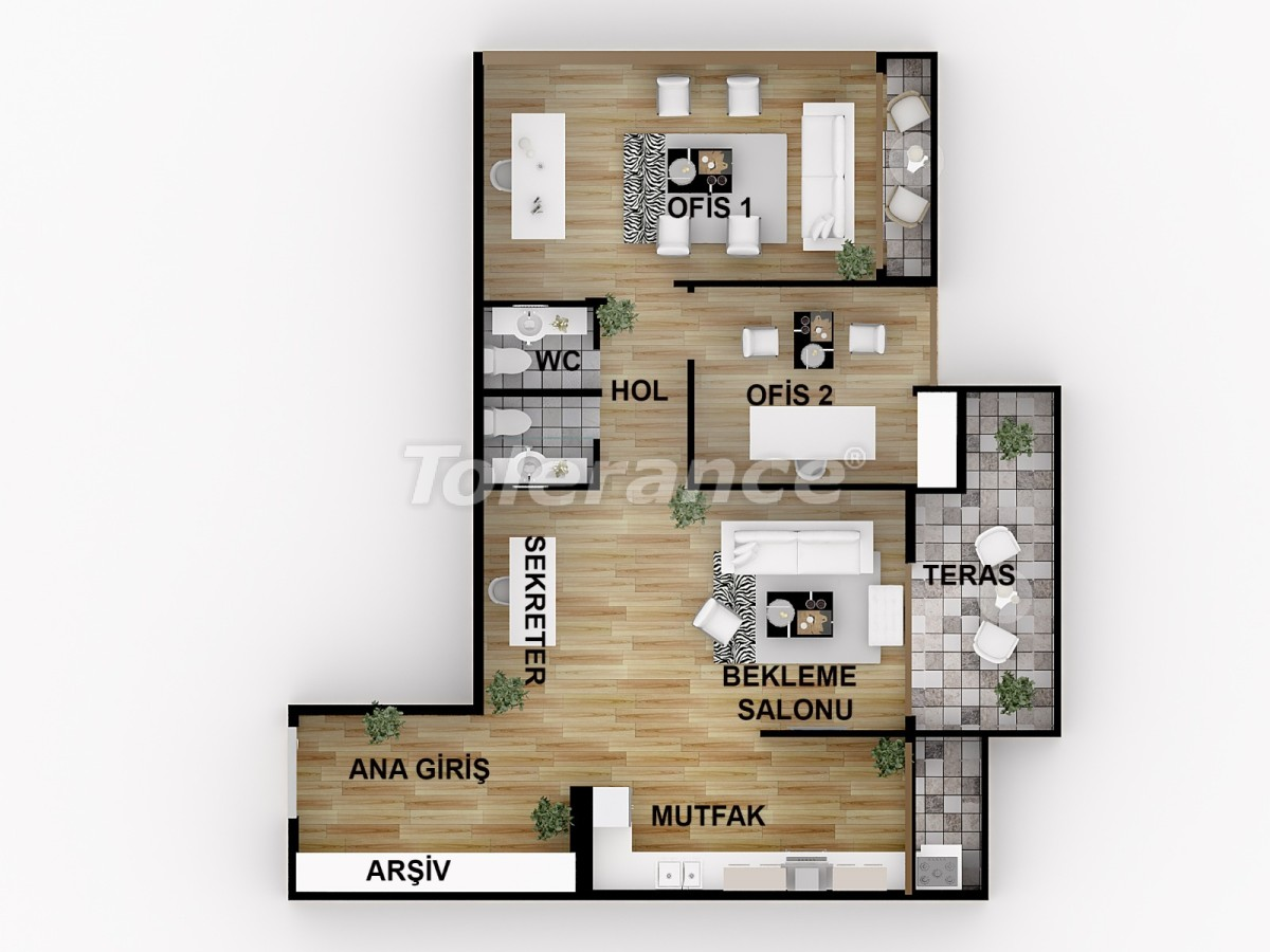 Offices in Tarsus, Mersin with installments from the developer - 44770 | Tolerance Homes