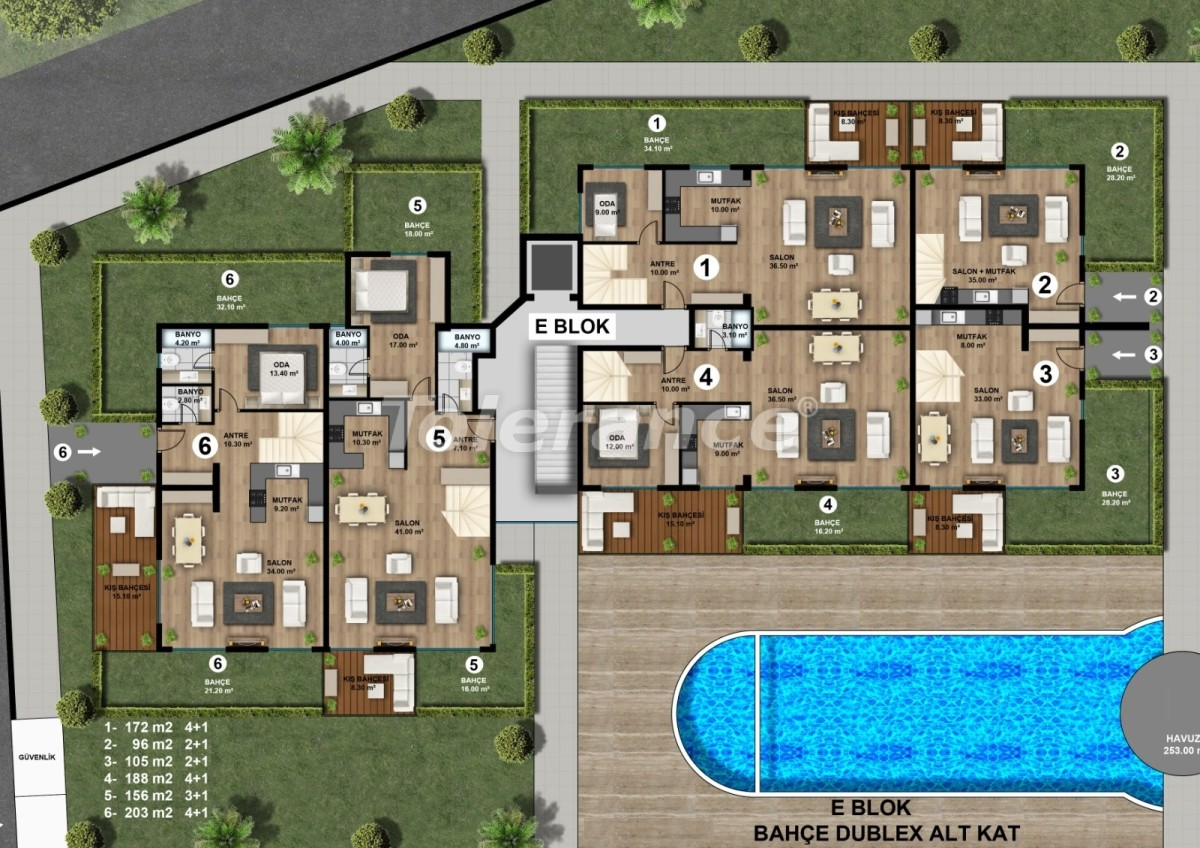 Luxurious spacious apartments in Lara, Antalya from the developer - 44892   Tolerance Homes
