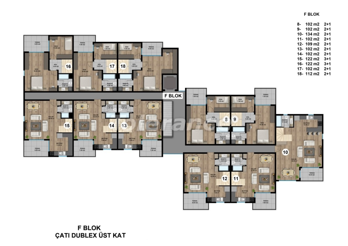 Luxurious spacious apartments in Lara, Antalya from the developer - 44897   Tolerance Homes