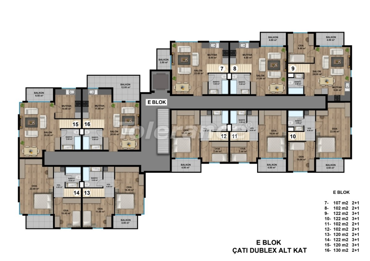Luxurious spacious apartments in Lara, Antalya from the developer - 44895   Tolerance Homes