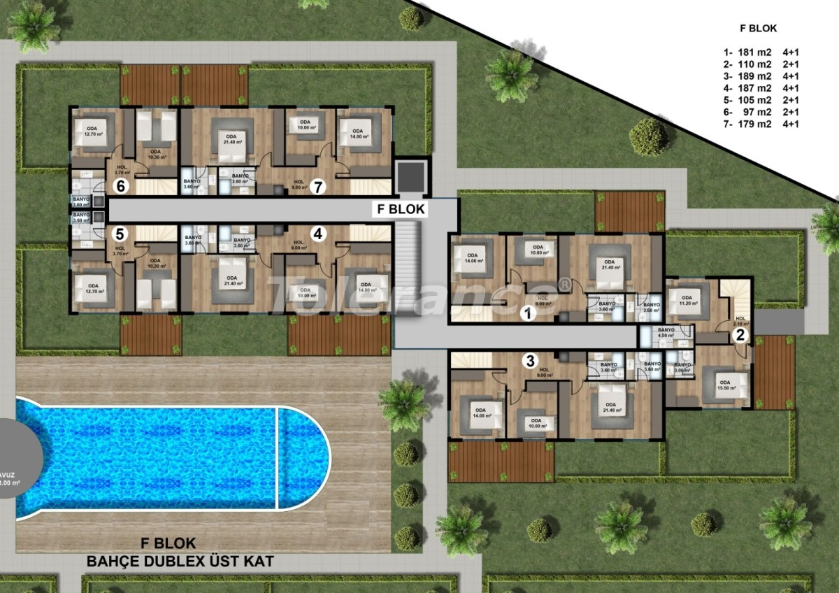 Luxurious spacious apartments in Lara, Antalya from the developer - 44891   Tolerance Homes