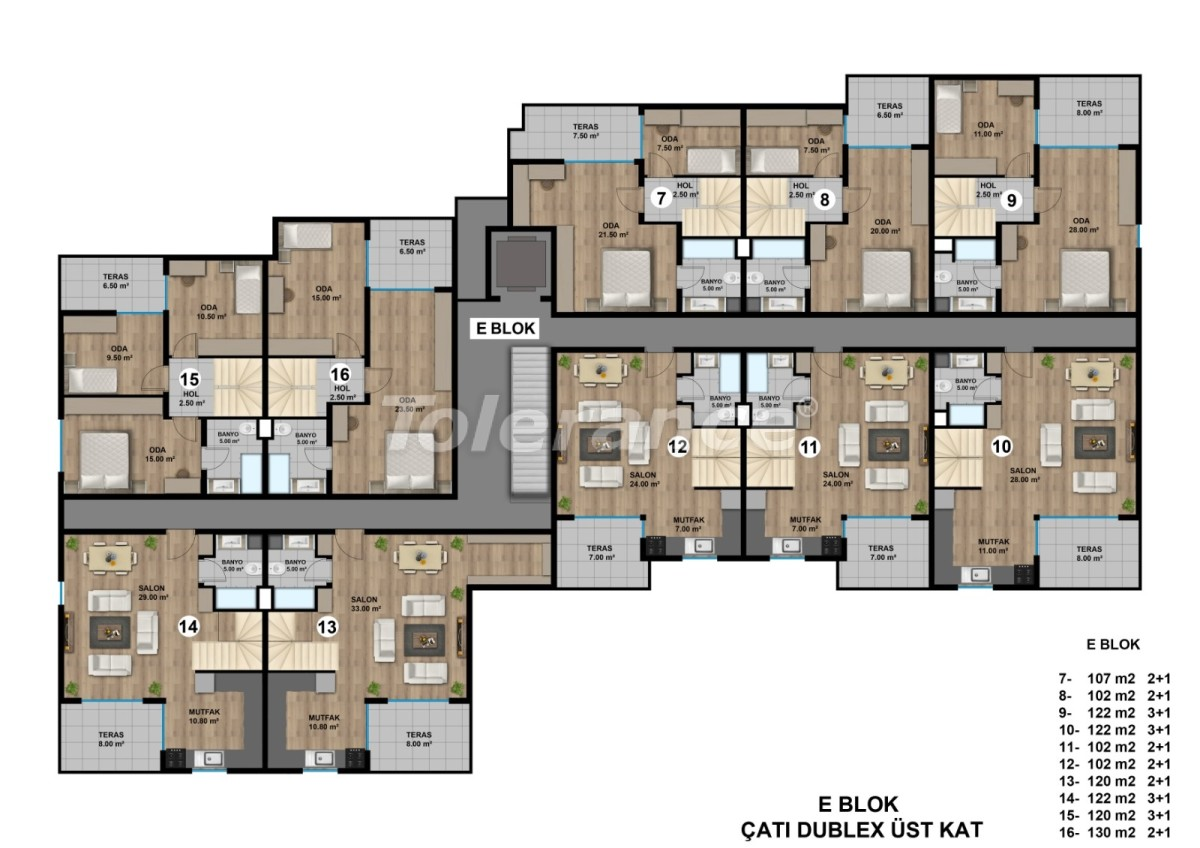 Luxurious spacious apartments in Lara, Antalya from the developer - 44896   Tolerance Homes