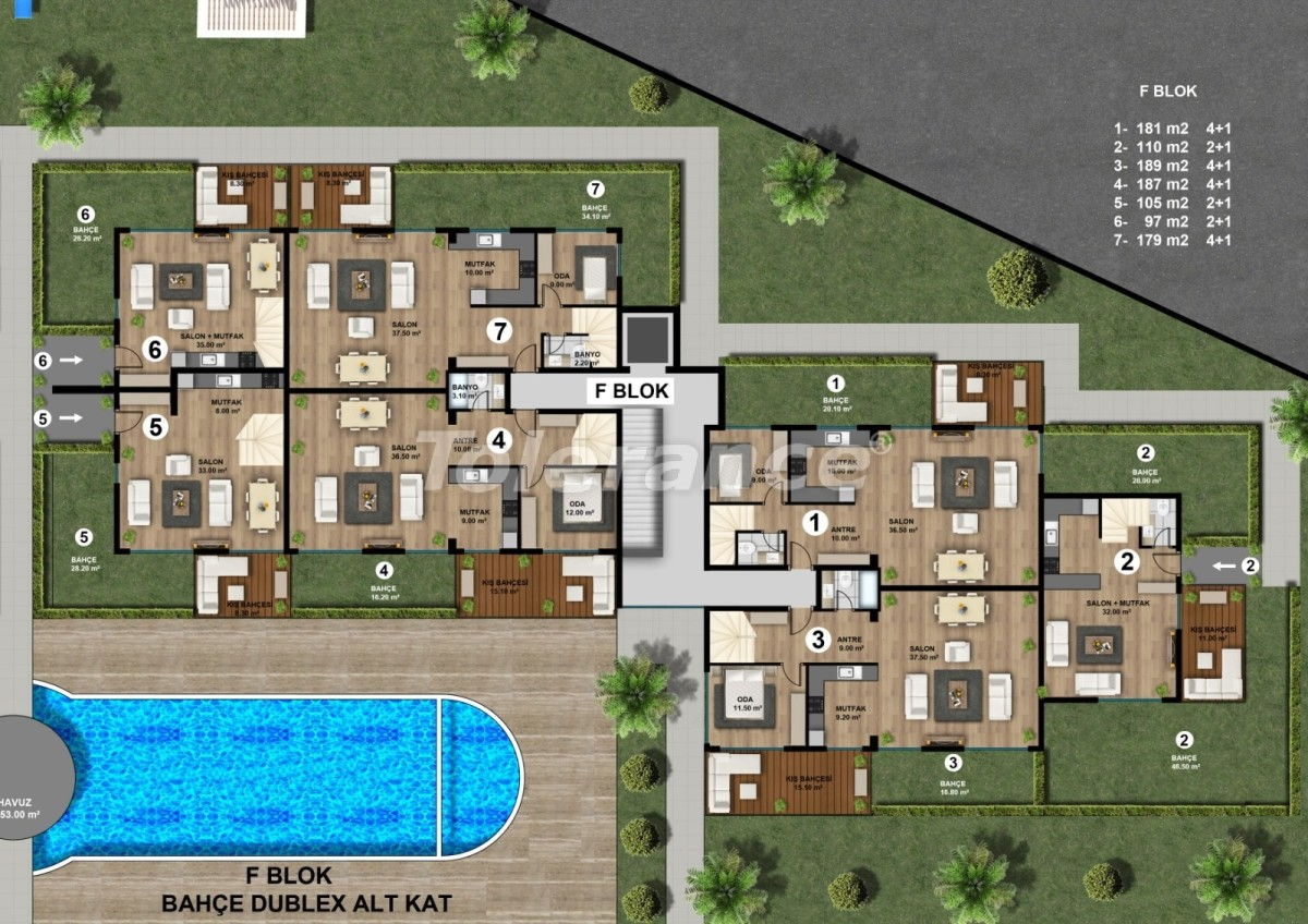 Luxurious spacious apartments in Lara, Antalya from the developer - 44893   Tolerance Homes