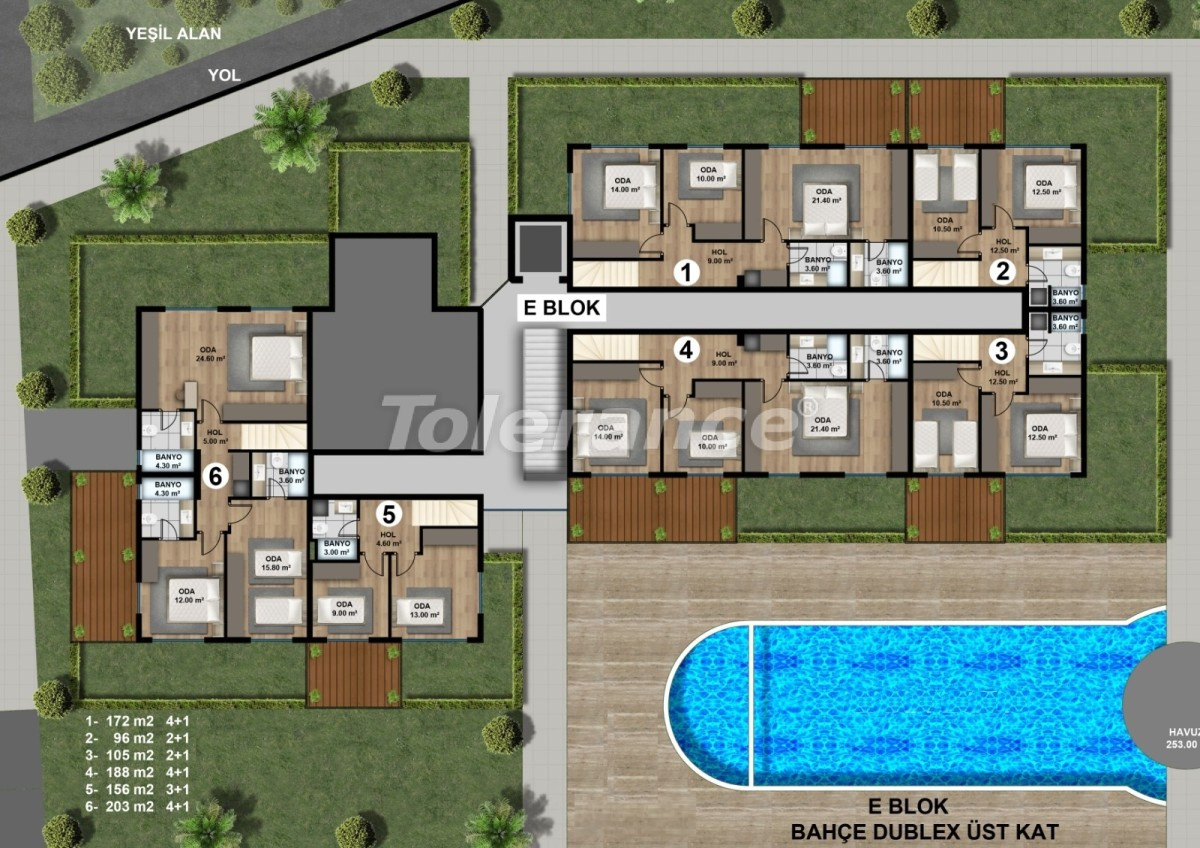 Luxurious spacious apartments in Lara, Antalya from the developer - 44890   Tolerance Homes