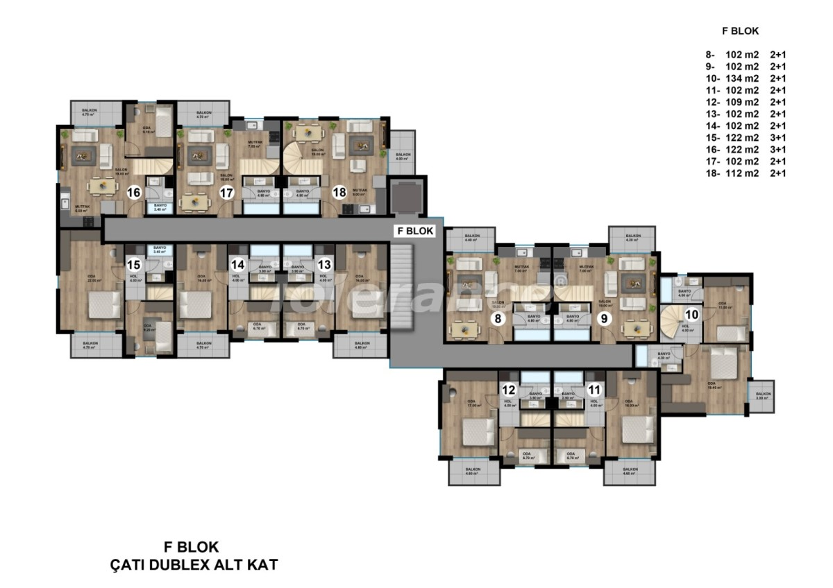 Luxurious spacious apartments in Lara, Antalya from the developer - 44898   Tolerance Homes
