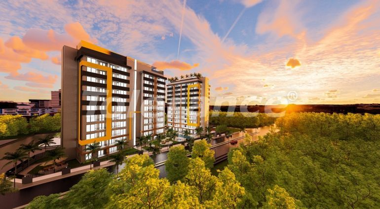 Inexpensive modern apartments in Altıntaş, Antalya in a complex with facilities in installments - 44816   Tolerance Homes