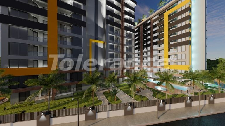 Inexpensive modern apartments in Altıntaş, Antalya in a complex with facilities in installments - 44811   Tolerance Homes
