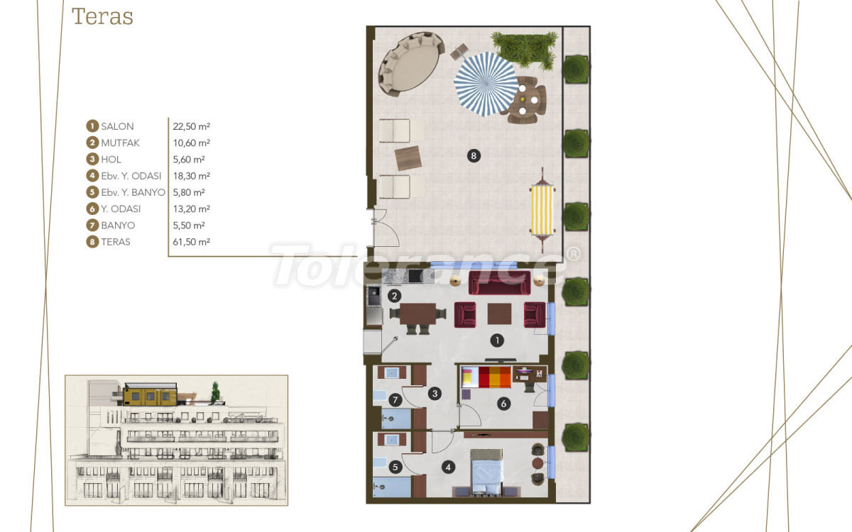 Spacious luxury apartments in Altıntaş, Antalya from the developer with installments up to 1 year - 44985 | Tolerance Homes