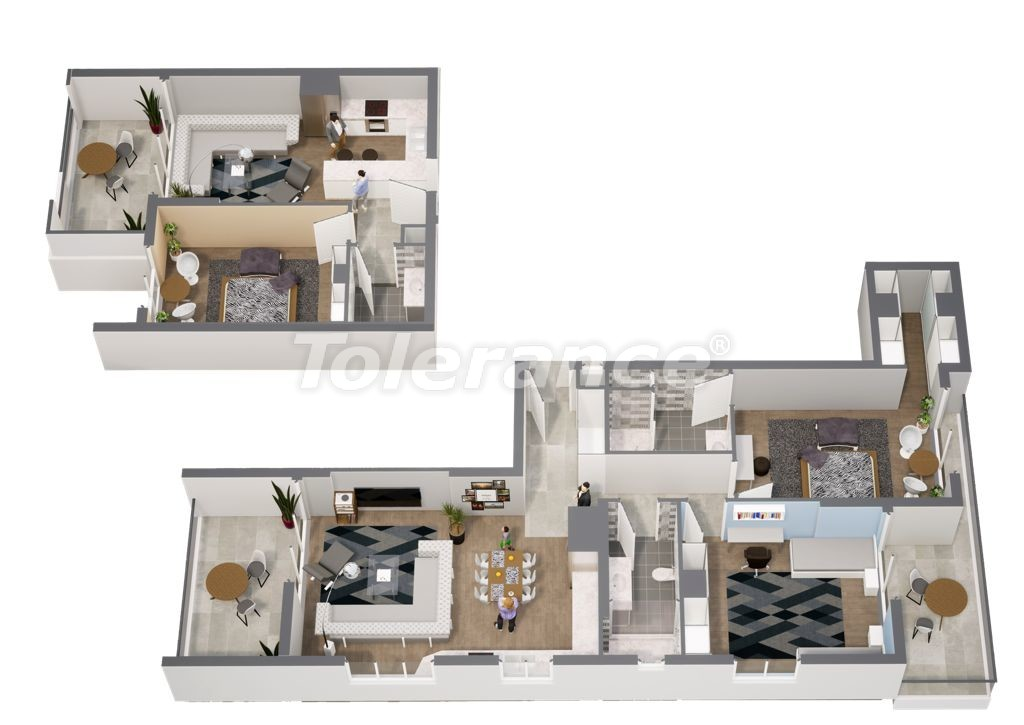 Spacious apartments in Erdemli, Mersin near the sea with the possibility of obtaining citizenship - 45244   Tolerance Homes