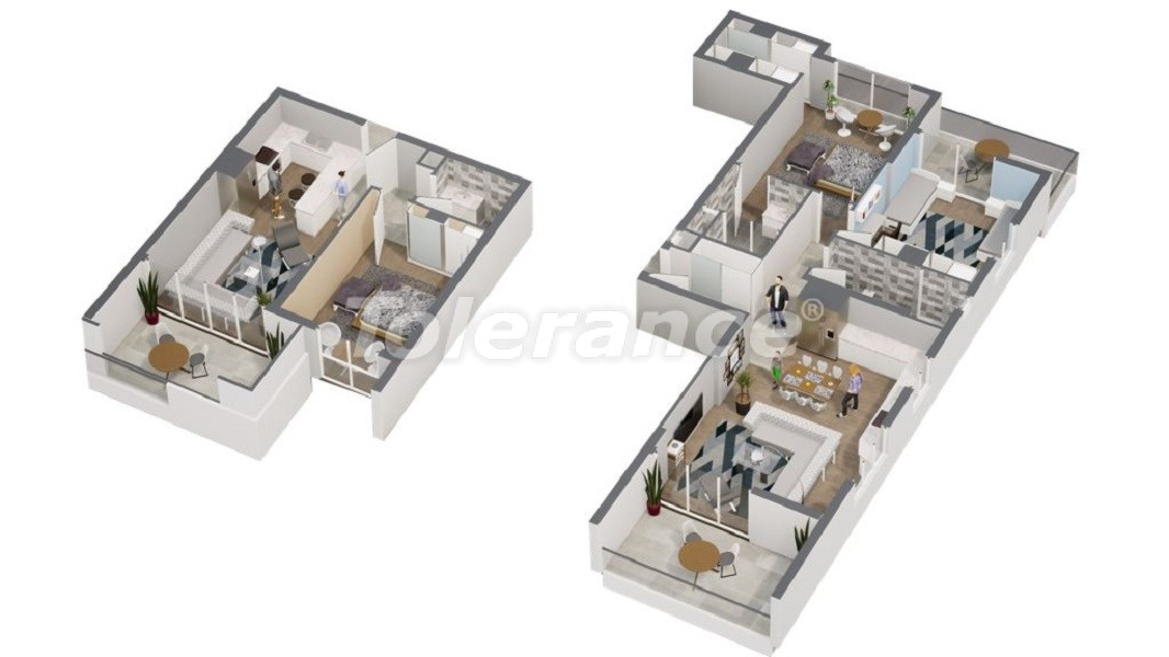 Spacious apartments in Erdemli, Mersin near the sea with the possibility of obtaining citizenship - 45284   Tolerance Homes