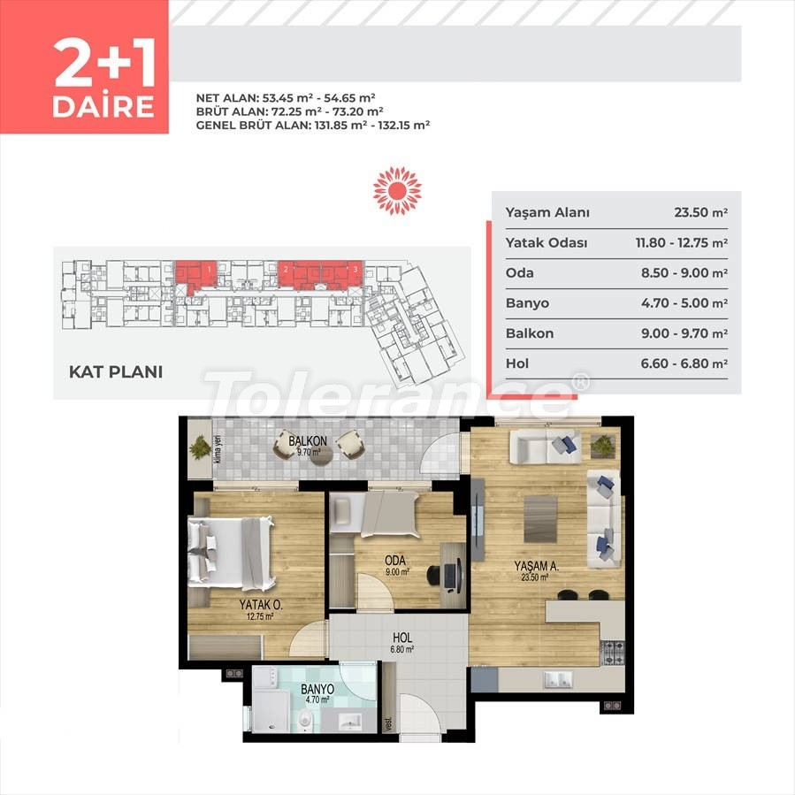 Apartments in Çiğli, Izmir profitable for investment in a complex with facilities in installments - 45328   Tolerance Homes