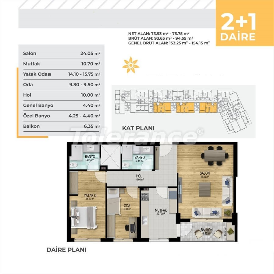Apartments in Çiğli, Izmir profitable for investment in a complex with facilities in installments - 45327   Tolerance Homes