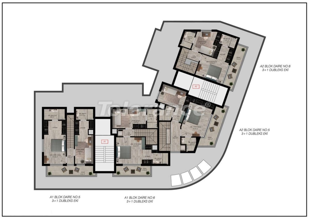 Luxury apartments in Gürsu, Konyaaltı, 300 to the sea by installments from the developer - 45567   Tolerance Homes