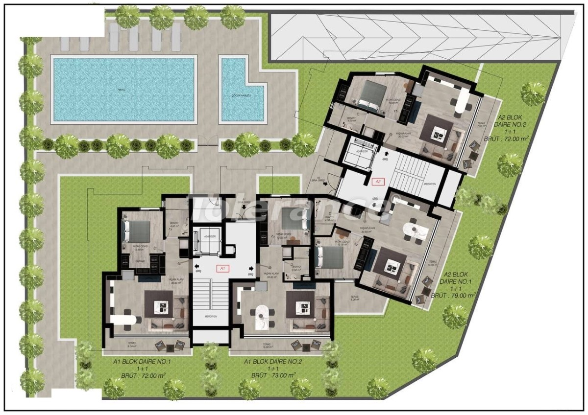 Luxury apartments in Gürsu, Konyaaltı, 300 to the sea by installments from the developer - 45564   Tolerance Homes