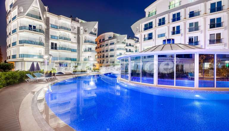 Apartment complex in Liman, Konyaalti luxury hotel type with a large swimming pool and rental guarantee - 586 | Tolerance Homes
