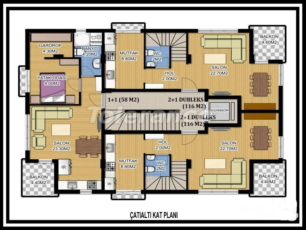 Two-bedroom apartment in Liman, Konyaalti near the sea - 1123 | Tolerance Homes