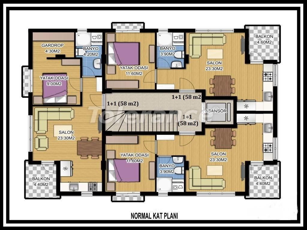 Two-bedroom apartment in Liman, Konyaalti near the sea - 1124 | Tolerance Homes