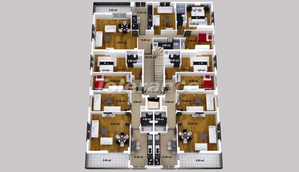 Spacious apartments and store areas in Kepez, Antalya - 1225 | Tolerance Homes