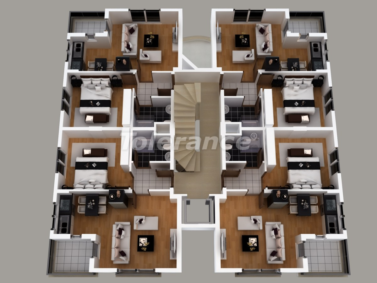 Apartments in Hurma, Konyaalti with installed gas heating - 1461 | Tolerance Homes