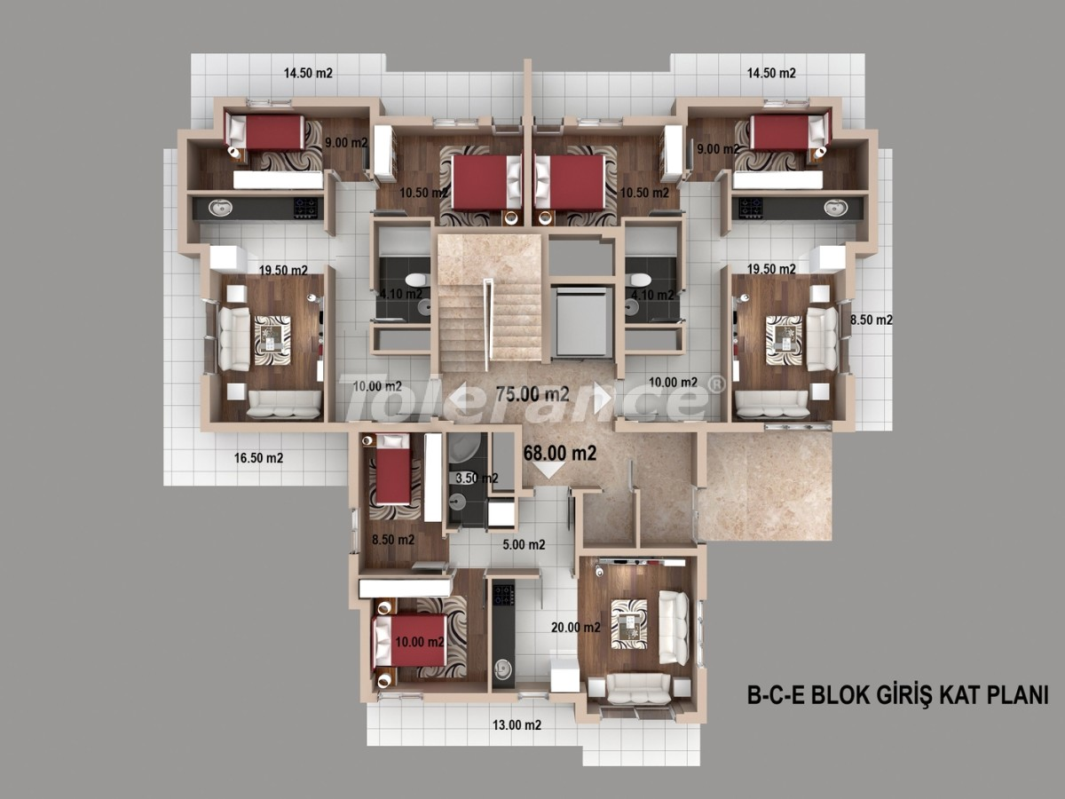 Spacious apartments in Kepez, Antalya from one of the best developers - 1516   Tolerance Homes