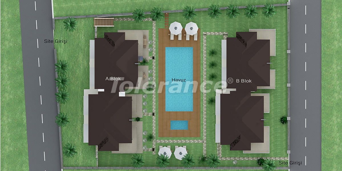 Inexpensive house in Goynuk, Kemer with 4 bedrooms in a complex with swimming pool - 1871 | Tolerance Homes