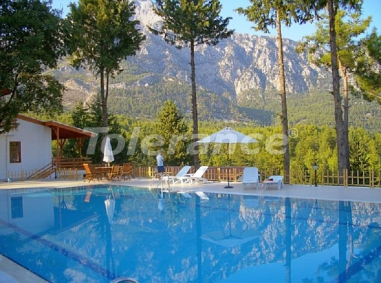 Cozy townhouses in Beycik, Kemer in a complex with a swimming pool among relict pine trees - 32108 | Tolerance Homes