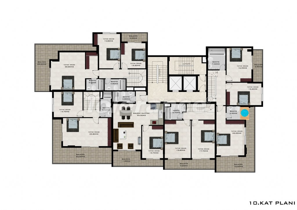 Apartments in Mahmutlar, Alanya from a reliable developer - 2624   Tolerance Homes