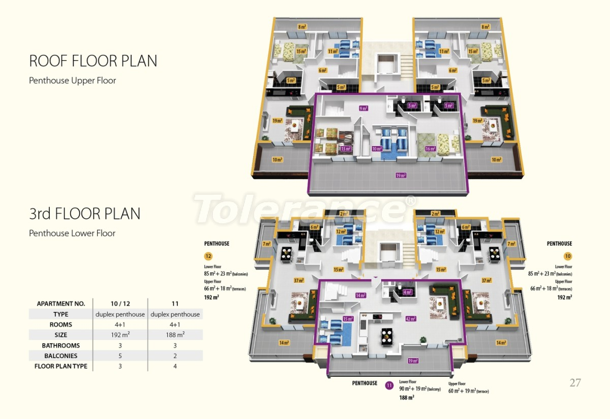 Luxury class apartments in Oba, with the services of a five star hotel - 2686 | Tolerance Homes
