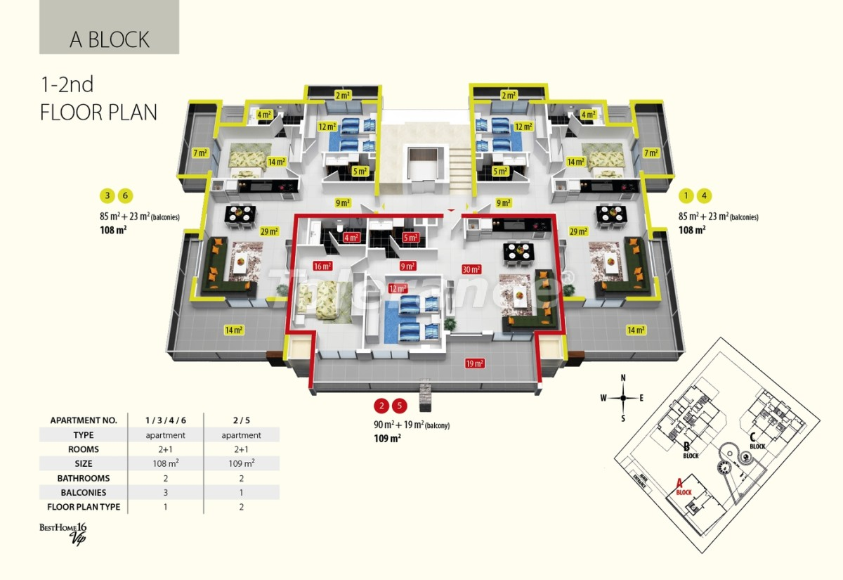 Luxury class apartments in Oba, with the services of a five star hotel - 2679 | Tolerance Homes