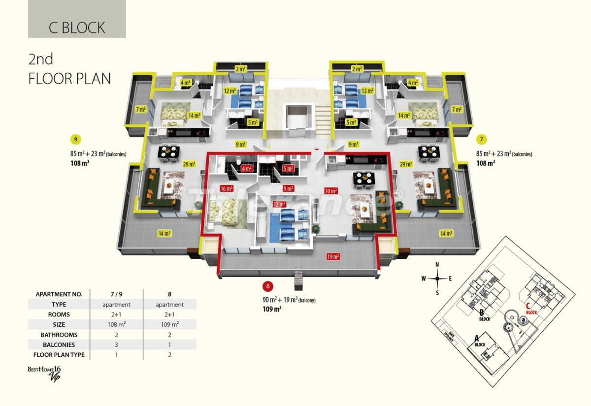 Luxury class apartments in Oba, with the services of a five star hotel - 2685 | Tolerance Homes