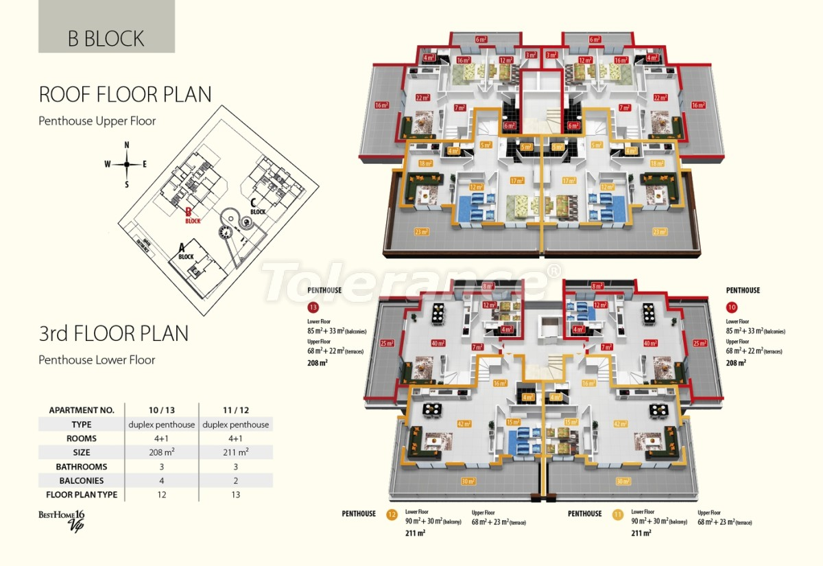 Luxury class apartments in Oba, with the services of a five star hotel - 2683 | Tolerance Homes